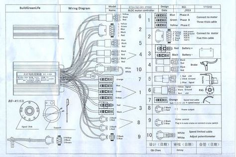 Electric Bike Controller Wiring Diagram Within E | Electric scooter, Electric  bike, Motorcycle wiringPinterest
