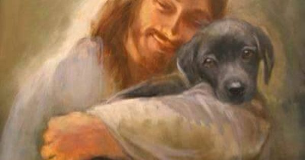"""I have never found a picture of Christ with a pet prior"