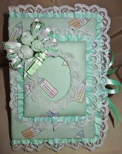 """Handmade /""""It/'s A Boy/"""" Pacifier Print 5x7 Picture Frame"""
