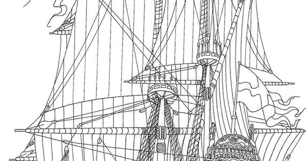 british sailing warship coloring pages - photo#40