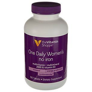 The Vitamin Shoppe One Daily Womens No Iron Multi 180 Tablets You Can Find Out More Details At The Link Of Th Vitamins And Minerals Vitamins Vitamin Shoppe
