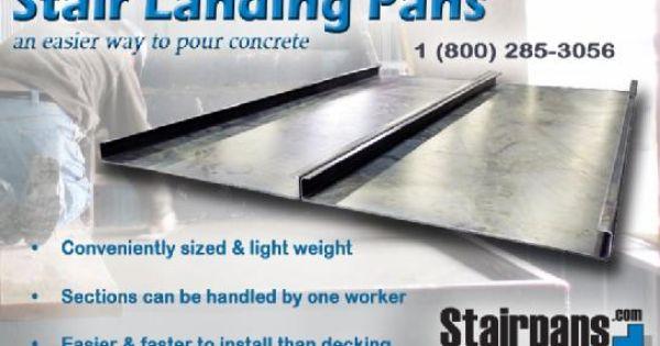 Postcard Stair Landing Pans Jpg Poured Concrete Stair Landing Concrete