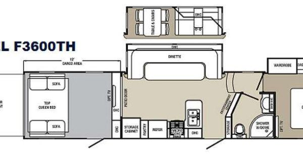 5th Wheel 2 Bathroom Floor Plans Floorplan Rvs