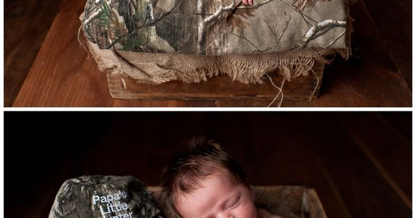 CAMO BABY PHOTOS. and a bunch of other cute newborn photo ideas.