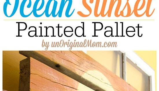 A painted pallet easy to do and great for a summer mantle