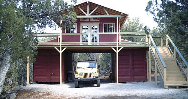 Barn Made From Conex Units Shipping Container Cabin