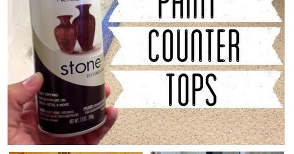 How to Spray Paint Countertops. ****awesome tutorial with tile, cabinates, resurfacing the