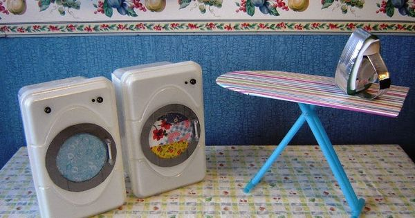 Make Your Dolls A Washer And Dryer From Empty Baby Wipes