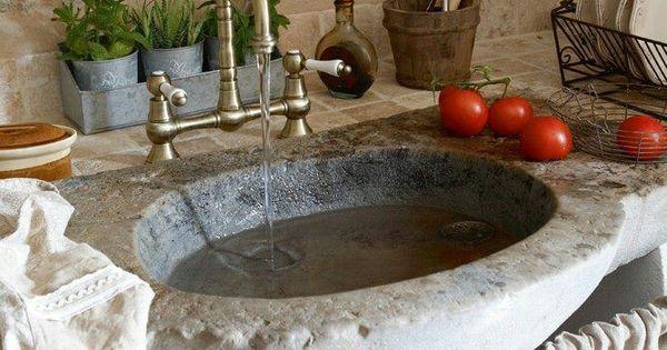 Fregadero de piedra cocinas r sticas pinterest - Fregaderos de piedra ...