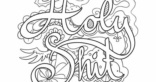 Holy shit | Vulgar Coloring Pages | Pinterest | Adult ...