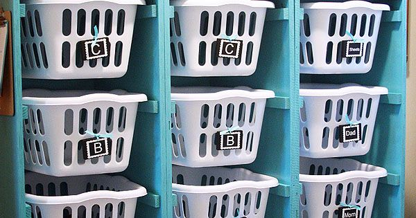 Laundry Basket Dresser. Keep all the dirty laundry organized in the laundry