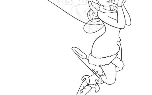 Friend tinker bell rosetta coloring page sewing for Rosetta coloring pages