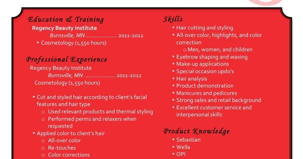 Creative Cosmetology Resume - Creative Cosmetology Resume we provide