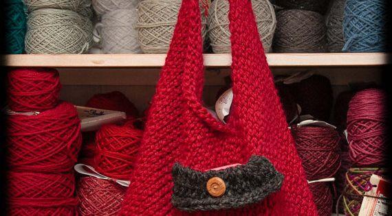 Loom Knitting Patterns For Beginners Pdf : Loom knit sling bento handbag purse pattern easy
