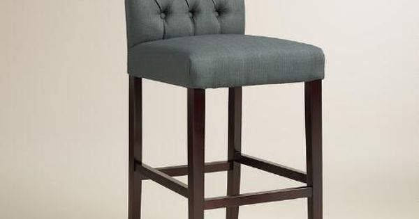 Charcoal Gray Tufted Harper Barstools Set Of 2 Charcoal