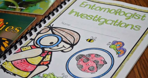 Insect unit and lesson plan ideas! Entomologist journals to record research. insectunit