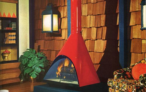 1970 S Fireplace Mid Century Pinterest Stove And 1970s