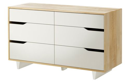 IKEA MANDAL 6 drawer dresser Made of solid wood which is a durable and warm  natural. Mandal 6 Drawer Dresser