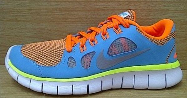 Kode Sepatu Nike Free 5 0 Blue Orange Ukuran Sepatu 35 5