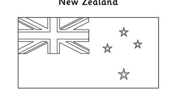 New Zealand Flag Colouring Page New Zealand Flag Flag Coloring