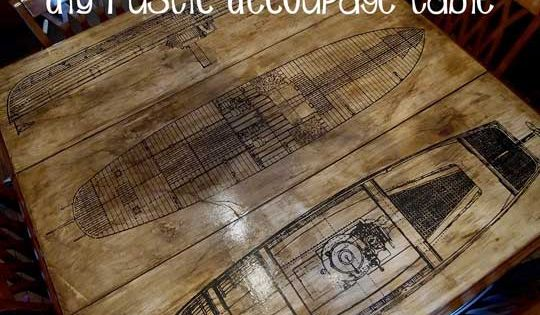 How To Decoupage Paper Print On Wood Age With Glazing