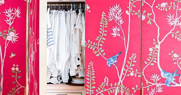 Forrar con papel pintado las puertas del armario - Papel pintado armario ...