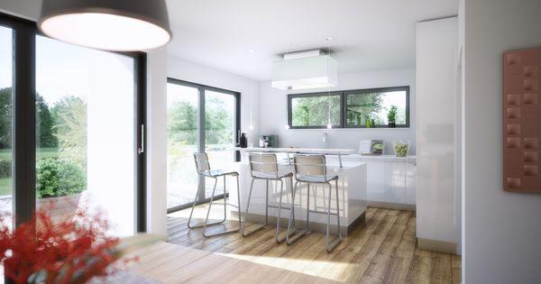 der klar strukturierte grundriss erm glicht gro z giges und offenes wohnen auf einer ebene der. Black Bedroom Furniture Sets. Home Design Ideas