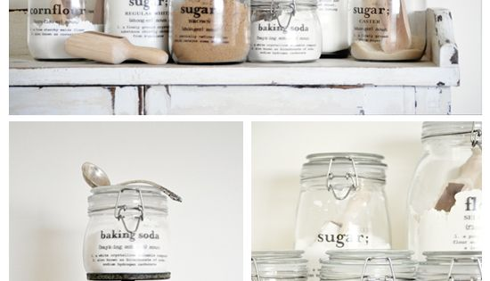 DIY Storage Jars with Clear Decals from The Painted Hive: MAGIC Decal