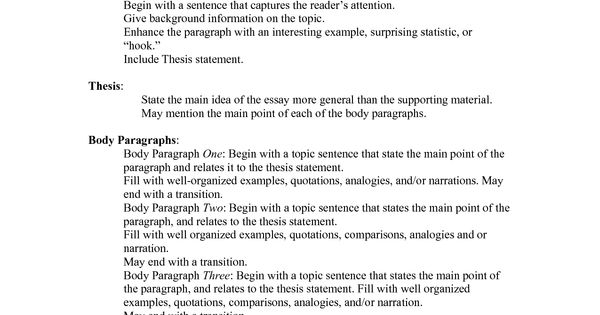 essay standard format