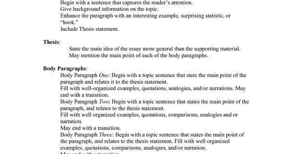 Standard essay
