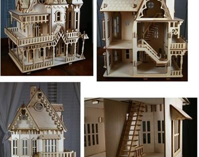 Victorian style house baltic birch plywood victorian for Victorian style kit homes