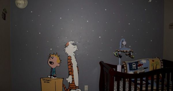 Calvin and hobbes mural google search baby b for Calvin and hobbes nursery mural