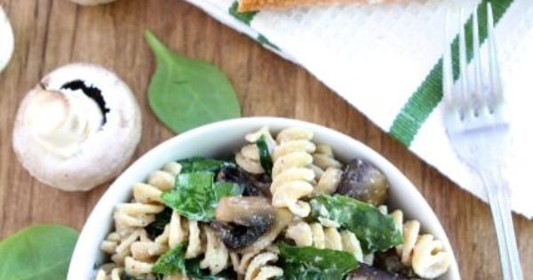 Creamy Goat Cheese Pasta with Spinach & Mushrooms | eAts. pasta ...