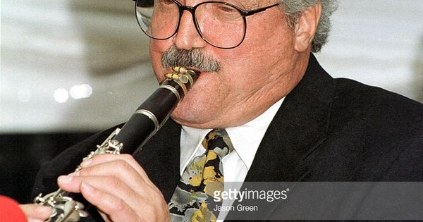 Actor Hal Linden shows off his musical talent playing the Clarinet ...