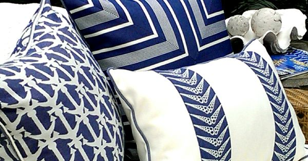 Karen Robertson Royalty Collection | Outdoor Pillows | Beach Pillows | Coastal
