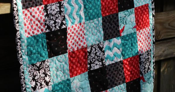 I like the pattern, not the color palette. Basically Block Quilt tutorial.