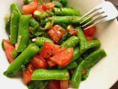 Vagem Refogada Salada De Vagem Com Tomate E Espinafre Salada De