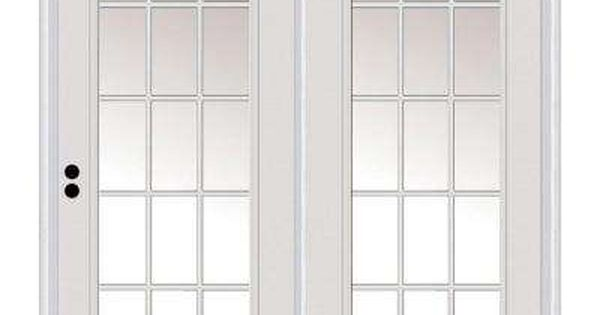 71 In X 81 75 In Classic Clear Glass Majestic Steel Right Hand Inswing 15 Lite Exterior Patio Door Hinged Patio Doors