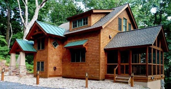 This Timber Frame Home In Virginia Utilizes Shingle Siding