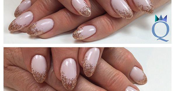 almondnails gelnails nails rosegold glitter fade mandel form geln gel n gel rosegold. Black Bedroom Furniture Sets. Home Design Ideas