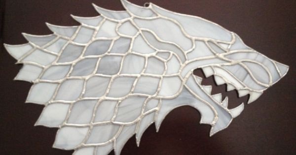 Game Of Thrones House Stark Direwolf By Cjjackstainedglass
