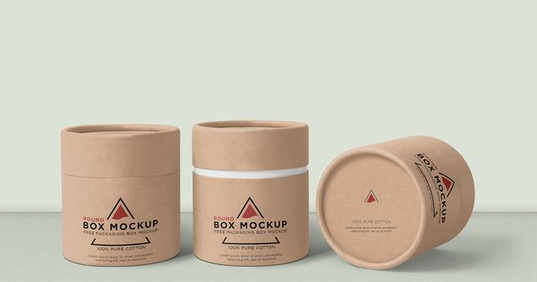 Download Free Round Box Mockup Zippypixels Box Mockup Box Packaging Design Round Box