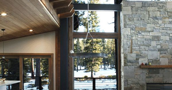 Cozy modern mountain retreat in lake tahoe lakes design for Lake tahoe architecture firms