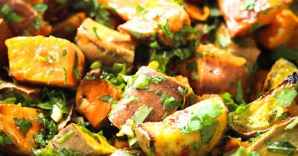 Sweet potato salad with cilantro lime dressing | recipes | Pinterest ...