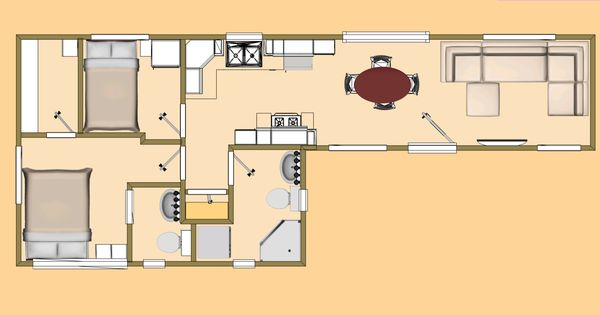 480 sq ft cool fat 7 shipping container floor plan view container pinterest - Container homes cost per square foot ...