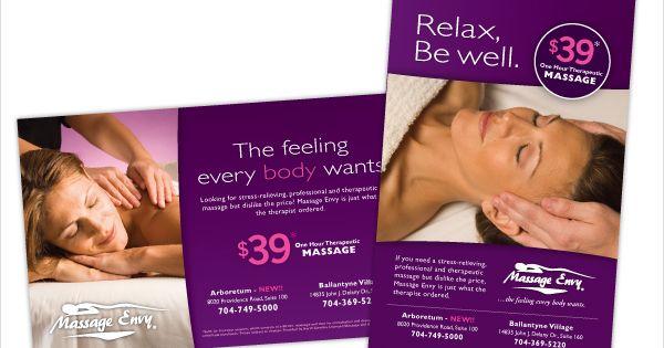 Massage Envy Advertising Leaflets Flyers Massage