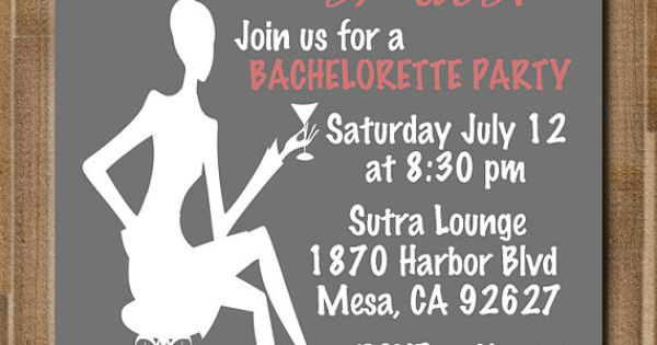 PRINTABLE Bachelorette Party / Bridal Shower Invitation