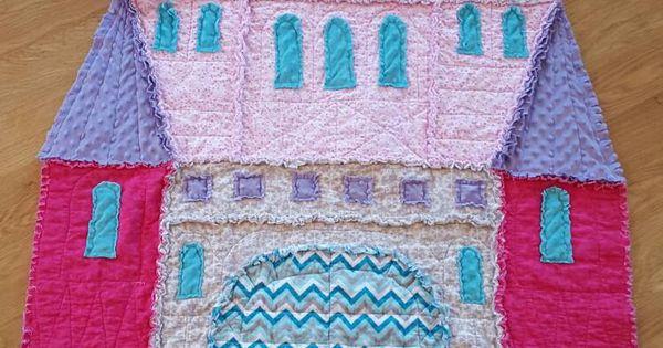 Castle Rag Quilt Rag Quilt Castles And Etsy