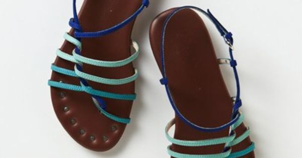 Beach sandals - Latitudes Strappy Sandals by Anthropologie