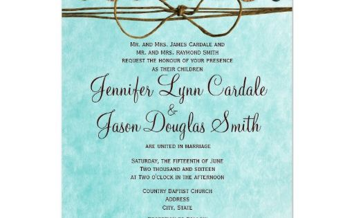 Turquoise And Brown Wedding Invitations: Brown And Turquoise Country Style Wedding Invitations For